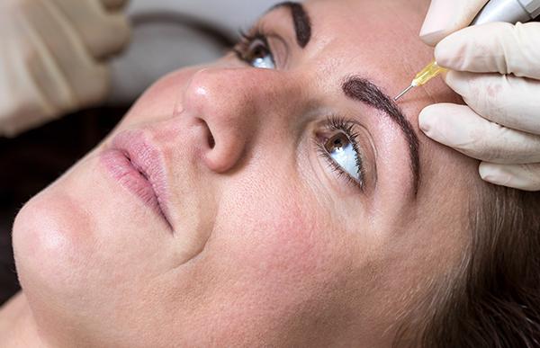 permanentní make up obočí korekce